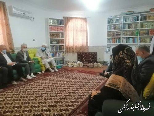 دیدار  هیات اجرایی و هیات نظارت انتخابات شهرستان ترکمن با ائمه جمعه شهرستان