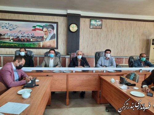 اولین جلسه شورای هماهنگی مدیریت بحران شهرستان ترکمن در سال 1400 برگزار شد