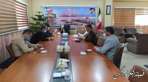 بررسی مسائل و مشکلات حوزه ترافیک شهرستان ترکمن
