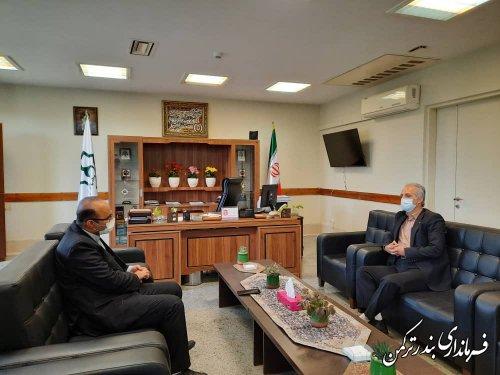 دیدار فرماندار شهرستان ترکمن با مدیر کل دفتر روستایی