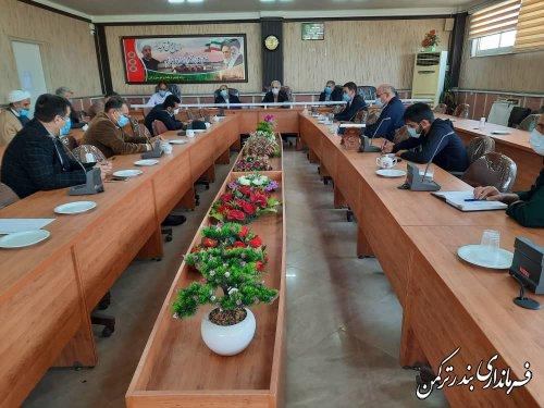 دومین جلسه ستاد پیشگیری و مقابله با کرونا شهرستان ترکمن برگزار شد