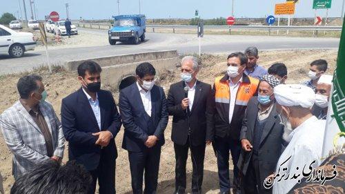 افتتاح پروژه روشنایی سه راهی اورکت حاجی از توابع شهرستان ترکمن
