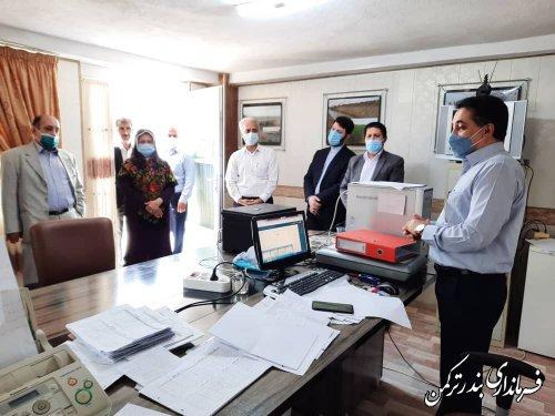 بازدید سرپرست معاونت توسعه مدیریت و منابع استانداری از ستاد انتخابات شهرستان ترکمن