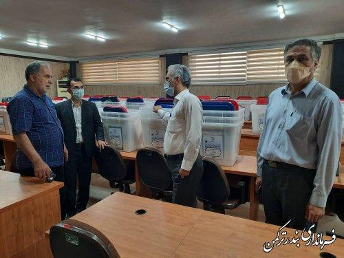 آماده سازی صندوق های اخذ رای انتخابات شهرستان ترکمن