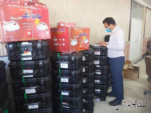صندوق های شعب اخذ رای  شهرستان ترکمن با تکمیل اقلام لازم آماده سازی شد