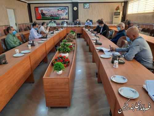 جلسه ساماندهی سواحل شهرستان ترکمن برگزار شد