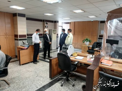 بازدید فرماندار ترکمن از بانکهای سطح شهرستان
