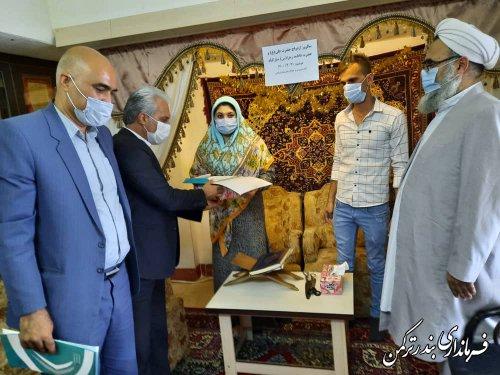 حضور فرماندار در مراسم ازدواج دو زوج جوان در شهرستان ترکمن