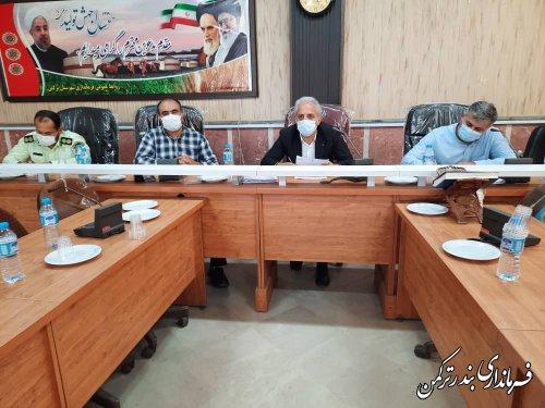 جلسه ستاد مقابله با کرونا شهرستان ترکمن برگزار شد