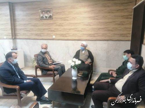 دیدار فرماندار ترکمن با رئیس اداره بهزیستی شهرستان
