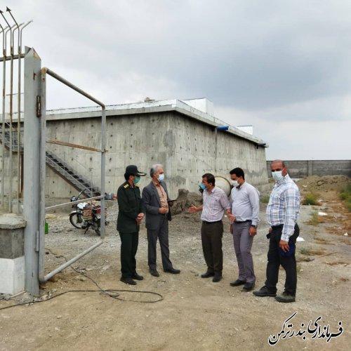 بازدید فرماندار ترکمن از مخزن آب هزار مترمکعبی سیجوال
