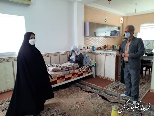 اهدای یک دستگاه لباسشویی به خانواده دو معلول شهرستان ترکمن