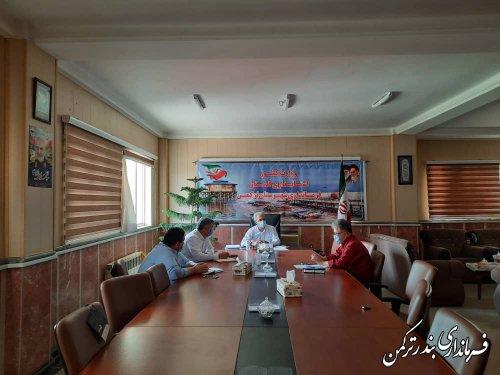 جلسه ستاد پیشگیری و مقابله با کرونا شهرستان ترکمن برگزار شد