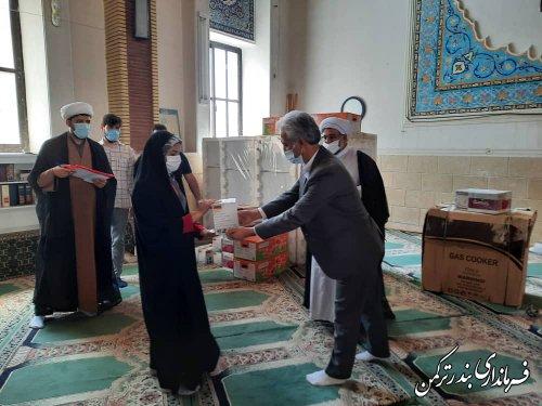 اهدای جهیزیه به نوعروسان شهرستان ترکمن از سوی دفتر امام جمعه شهرستان