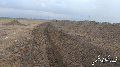 رفع مشکل آبگرفتگی روستای نیازآباد با پیگیری های مستمر فرماندار ترکمن