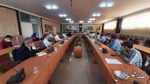 جلسه هماهنگی گرامیداشت هفته دفاع مقدس شهرستان ترکمن برگزار شد
