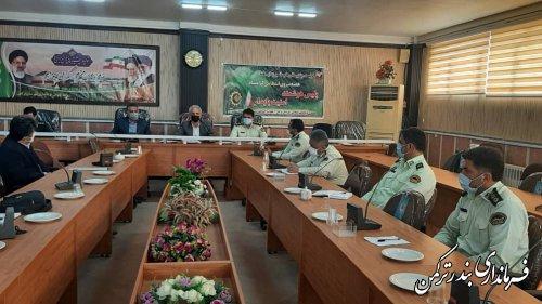 جلسه هماهنگی گرامیداشت هفته نیروی انتظامی شهرستان ترکمن برگزار شد