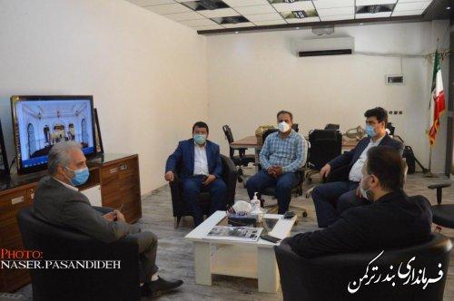 بازدید فرماندار از روند ساخت پروژه گردشگری شرکت هیرکانیا آسیا (ترکمن مال)شهرستان ترکمن
