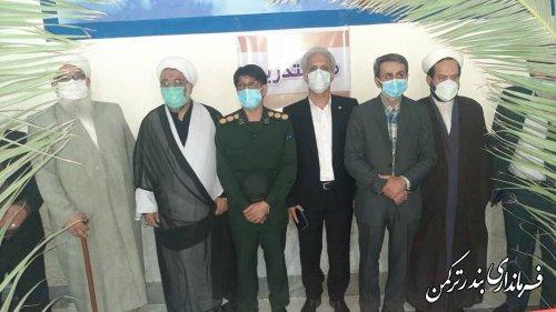 نمایشگاه عکس دفاع مقدس در دادگستری شهرستان ترکمن افتتاح شد