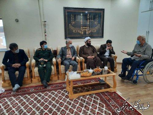 دیدار فرماندار با جانبازان دفاع مقدس شهرستان ترکمن
