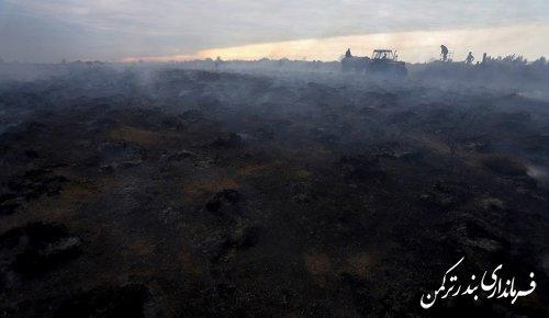 مهار آتش سوزی در جزیره آشوراده