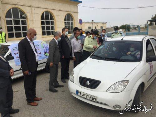 استقبال از شرکتکنندگان رالی خانوادگی در بندر ترکمن