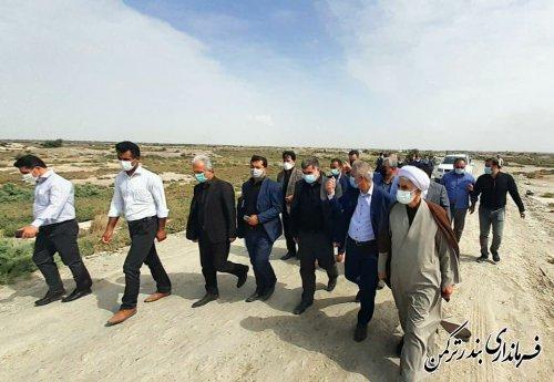 بازدید رئیس بنیاد مسکن انقلاب اسلامی از روستاهای ساحلی شهرستان