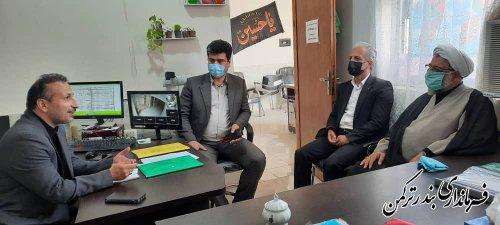 دیدار فرماندار شهرستان ترکمن با ریس اداره اوقاف و امور خیریه شهرستان