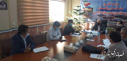 اجرای رزمایش شورای راهبردی دفاع زیستی ( واکسیناسیون محله محور ) طرح شهید سلیمانی در شهرستان ترکمن
