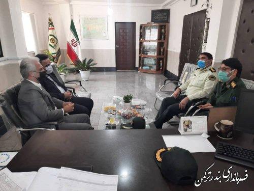 دیدار فرماندار ترکمن  با فرمانده انتظامی شهرستان